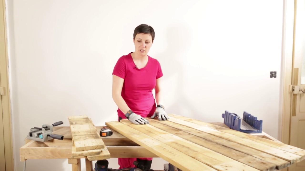 fabriquer une etagere en palettes diy deco