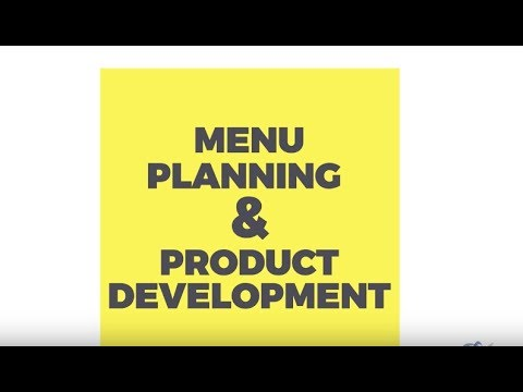 Menu Planning And Product Development HND 1