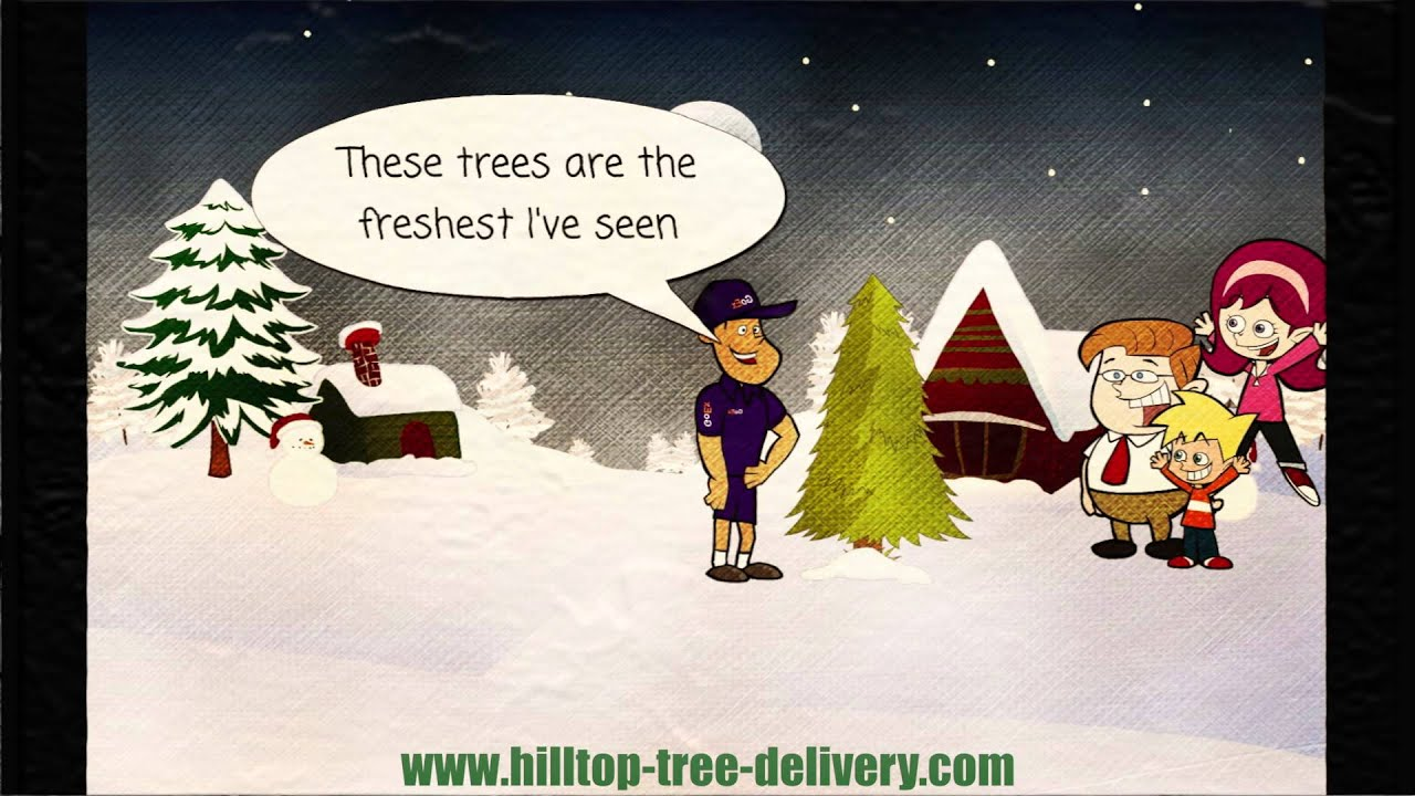 hilltop christmas tree delivery animation - Hilltop Christmas