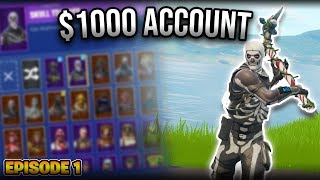 How much will people pay for $1000 Fortnite Account?