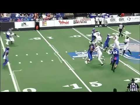 Roughriders WR Larry Beavers makes play of the year catch over the wall in Fayetteville NC!!!!