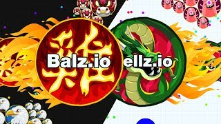 Ultimate Double Splits Balz.io VS Cellz.io! The new agar.io