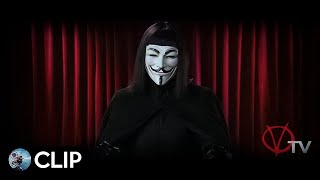 V Per Vendetta: 'Il Discorso di V' (Hugo Weaving/Natalie Portman) - 2005 (Clip)
