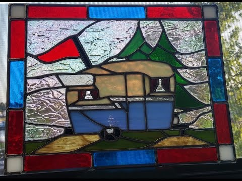 Stained Glass Soldering 1 - Vintage Trailer Glass