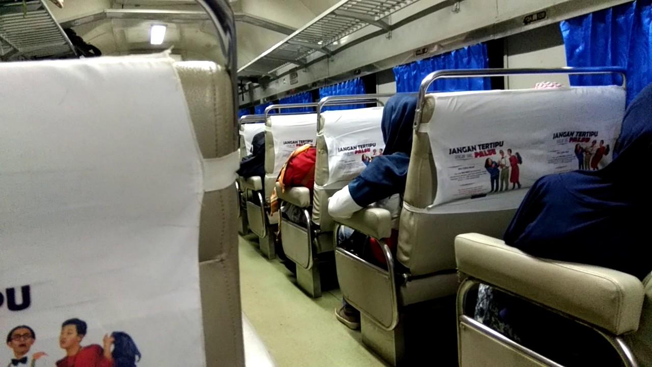 interior gerbong kereta api mutiara timur kelas bisnis youtube rh youtube com
