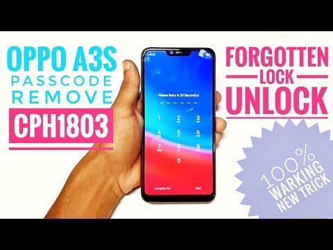 Oppo A3S Forgot Passcode Unlock