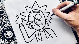 como dibujar a rick de rick y morty | how to draw rick | como desenhar rick and morty