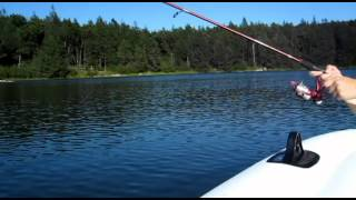 Ken Beam & Sharon Fishin` August 18th 2012 Blue Mountain Lake By Walpack Nj