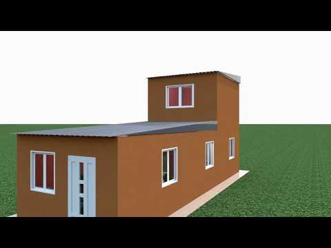 Casa angosta 3,60 x 11 mts