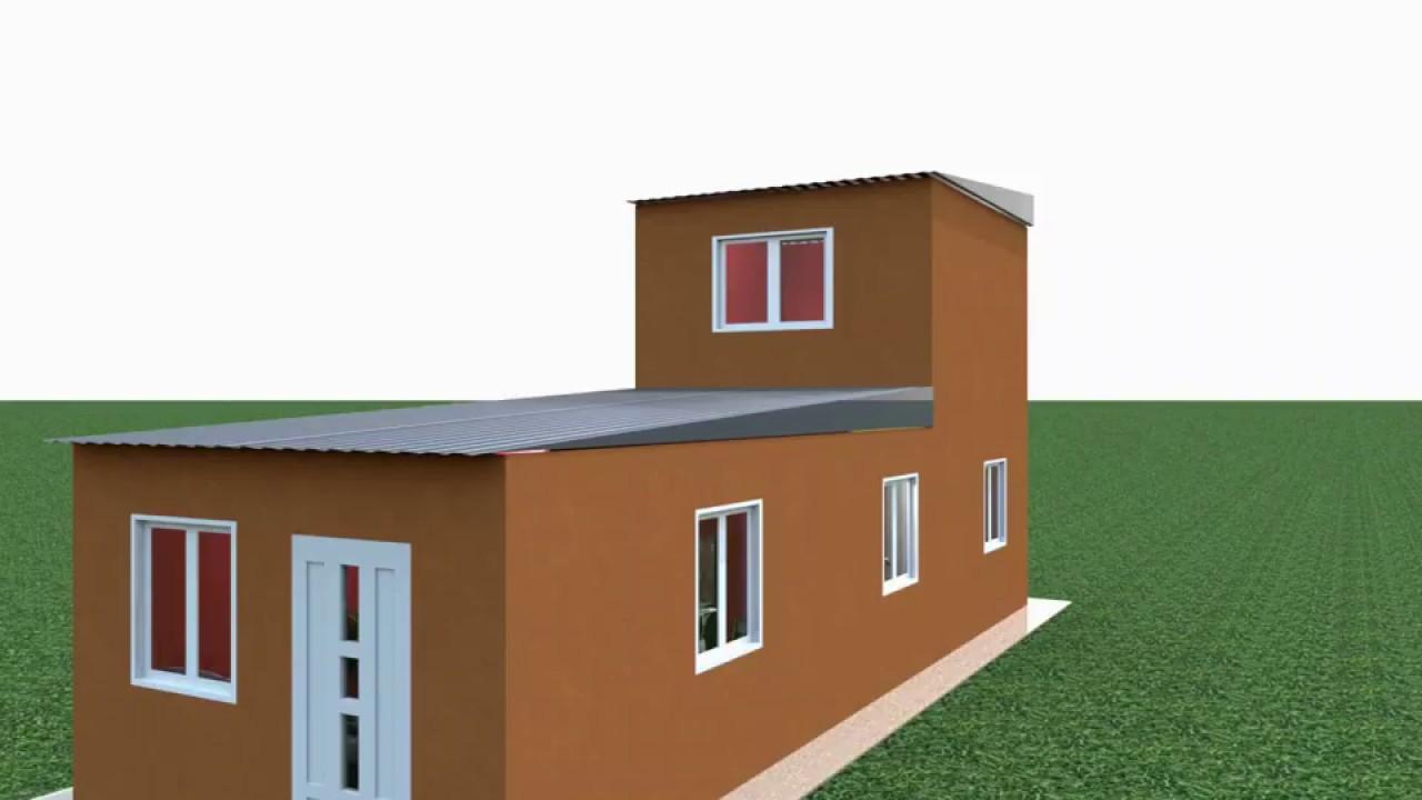 Casa angosta 3 60 x 11 mts youtube - Construir casas en 3d ...