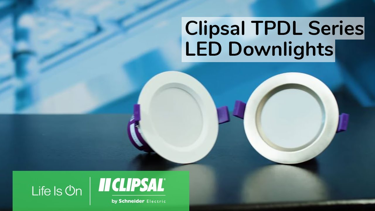 Clipsal TPDL Series LED Downlights - YouTube