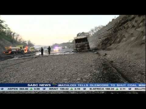 2 tanker trucks collide on the N2 highway outside Durban