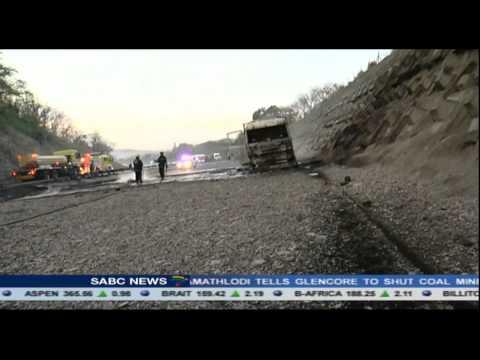 2 tanker trucks collide on the N2 highway outside Durban