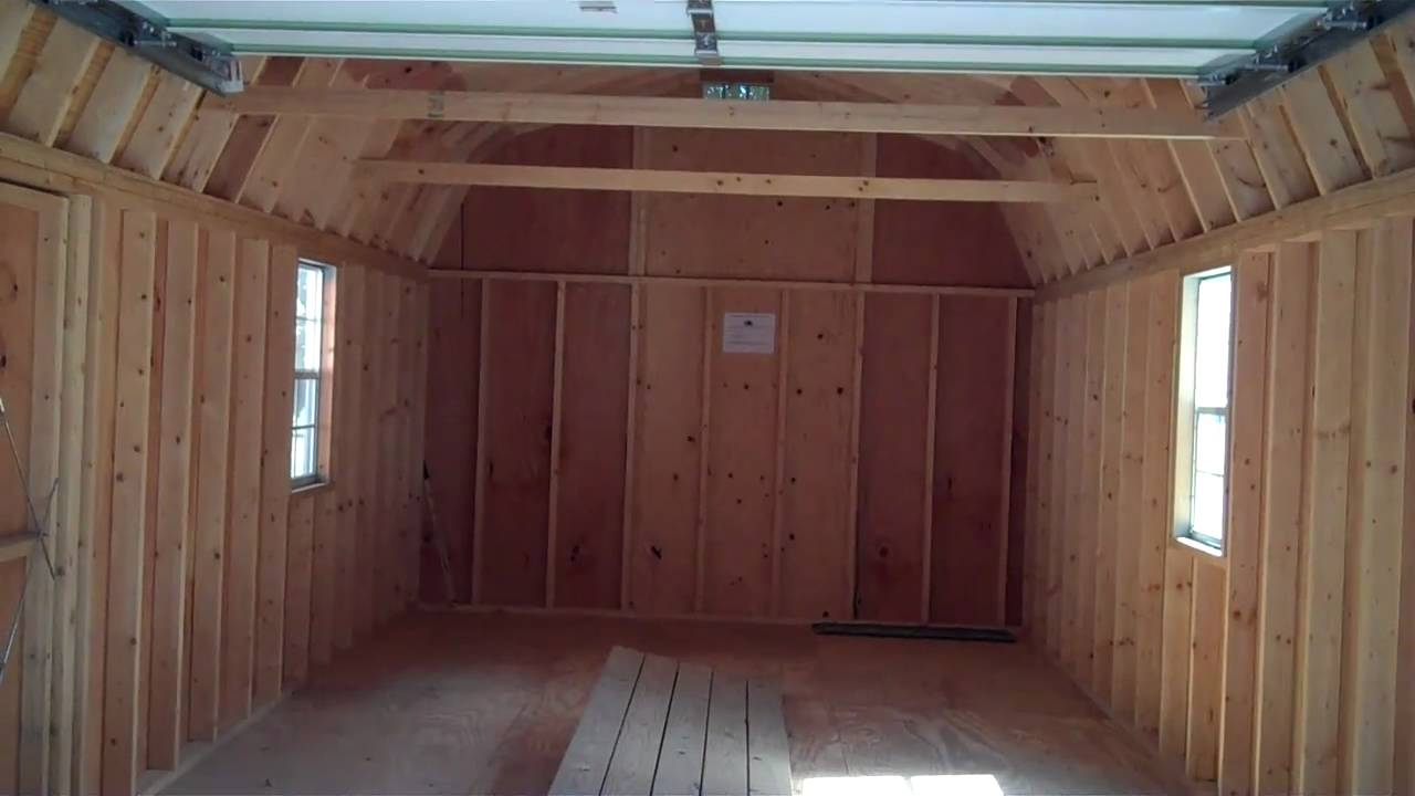 Prefab Garages 12x24 Barn Garage Garages Youtube