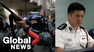Hong Kong Police Defend Shooting Protester To Investigate Man Set On Fire