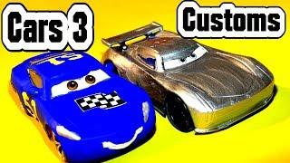 Pixar Cars 3 Custom Diecast Fabulous Cruz Ramirez and Primer Jackson Storm and Lightning McQueen