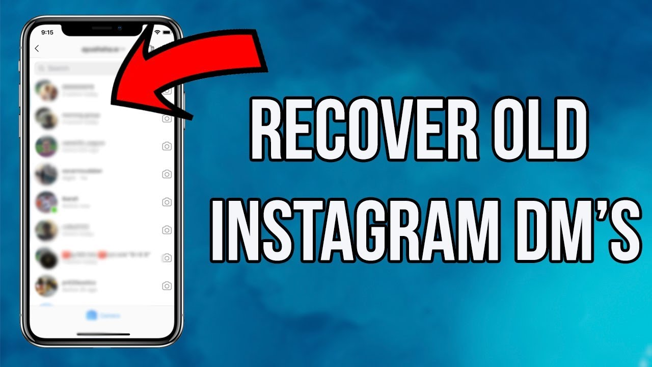 How to Recover Deleted Instagram Messages in 30 - Recover Old/Deleted  Instagram Dms
