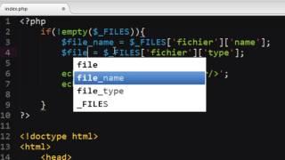 UPLOAD DE FICHIER EN PHP