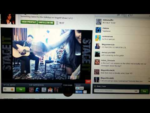 Megan Nicole StageIt - pt1 400 pm with chat entry