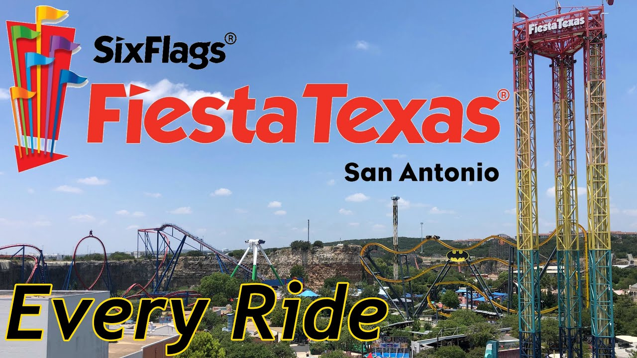 Every Ride at Six Flags Fiesta Texas 2020