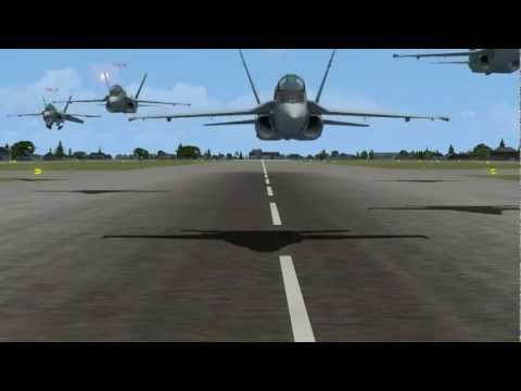 FSX F18 squadron takes of at Naval Station Norfolk