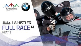 Whistler | BMW IBSF World Championships 2019 - 4-Man Bobsleigh Heat 3 | IBSF Official