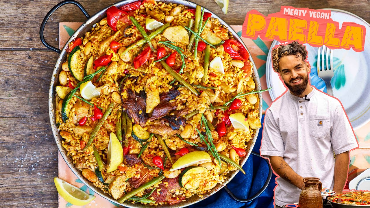 EPIC MEATY VEGAN PAELLA RECIPE... sorry Spanish friends