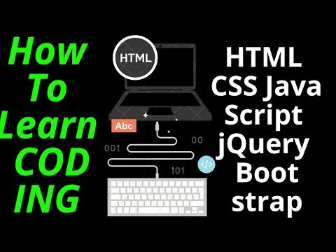 How To Learn CODING۔ HTML CSS JavaScript jQuery Bootstrap language thumbnail