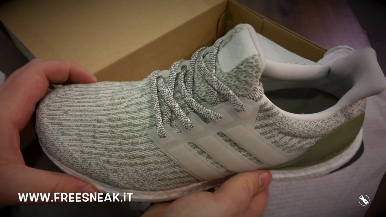 95aa669037c7e Unboxing Adidas Ultra Boost 3.0 Pearl Grey Trace Cargo BA8847 - YouTube