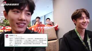 Eng Sub Wang Yibo & Xiao Zhan -- Sina Interview陈情令肖战王一博新浪娱乐星小编