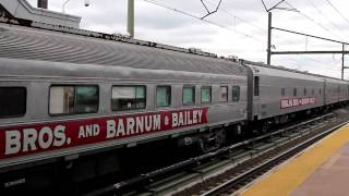 Ringling Brothers Barnum & Bailey Circus Train No. AMTK661/ AMTK660 w/ HHP-8 at Secaucus Junction