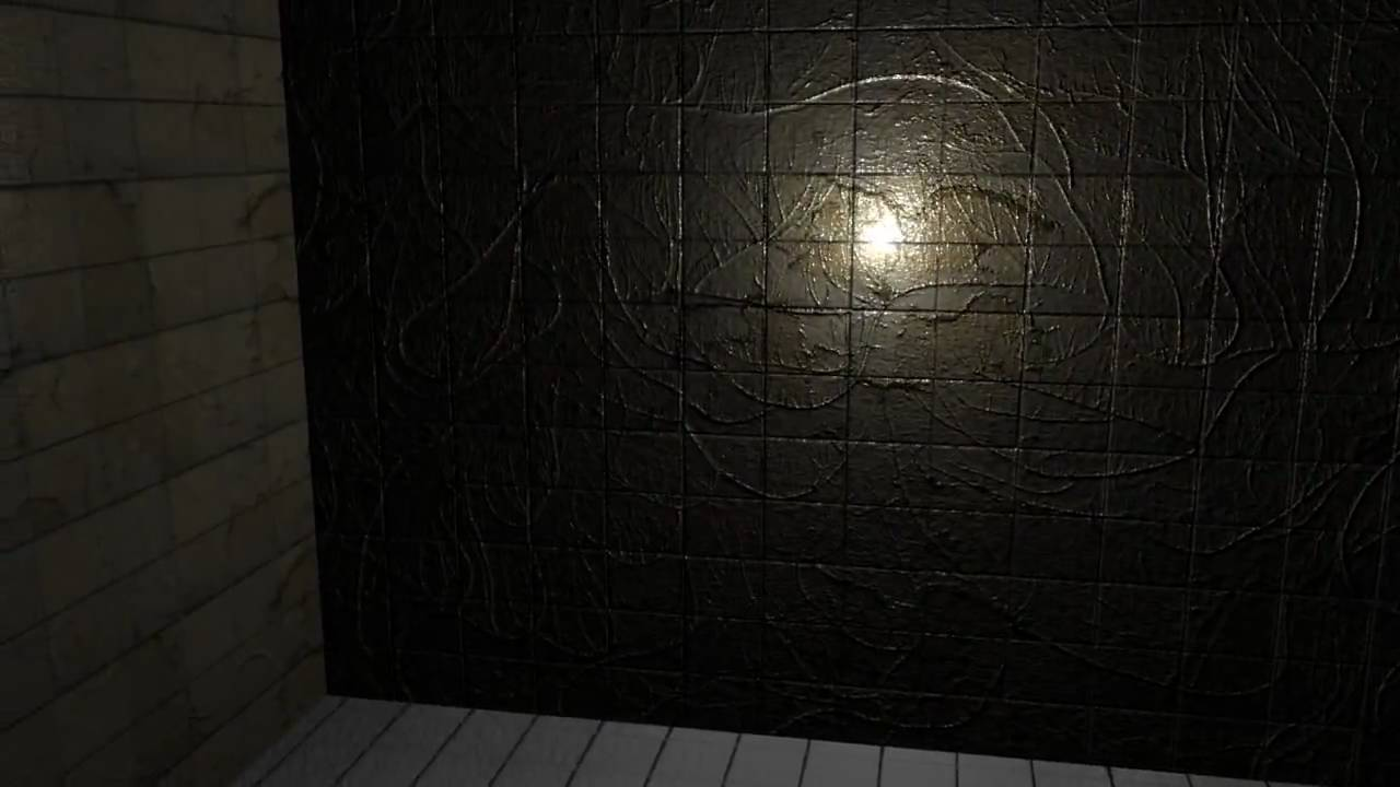 Horror Test Room Blender 3d Bump Map Texture And Ray