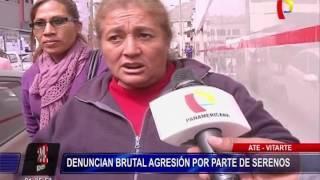 Denuncian a serenos de Ate de agredir salvajemente a vendedores ambulantes (2/2)