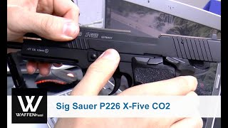 Sig Sauer P226 X-Five CO2 Pistole 4,5 mm BB Blow Back, CO2 Waffen, Schusstest, www.waffenfuzzi.de