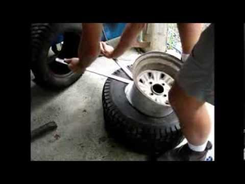 removing and replacing a tire on the rim with manual tools youtube. Black Bedroom Furniture Sets. Home Design Ideas