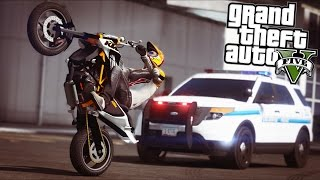 GTA 5 - Evade Ep16 - Bike Stunts, Chases, and Shootouts!!