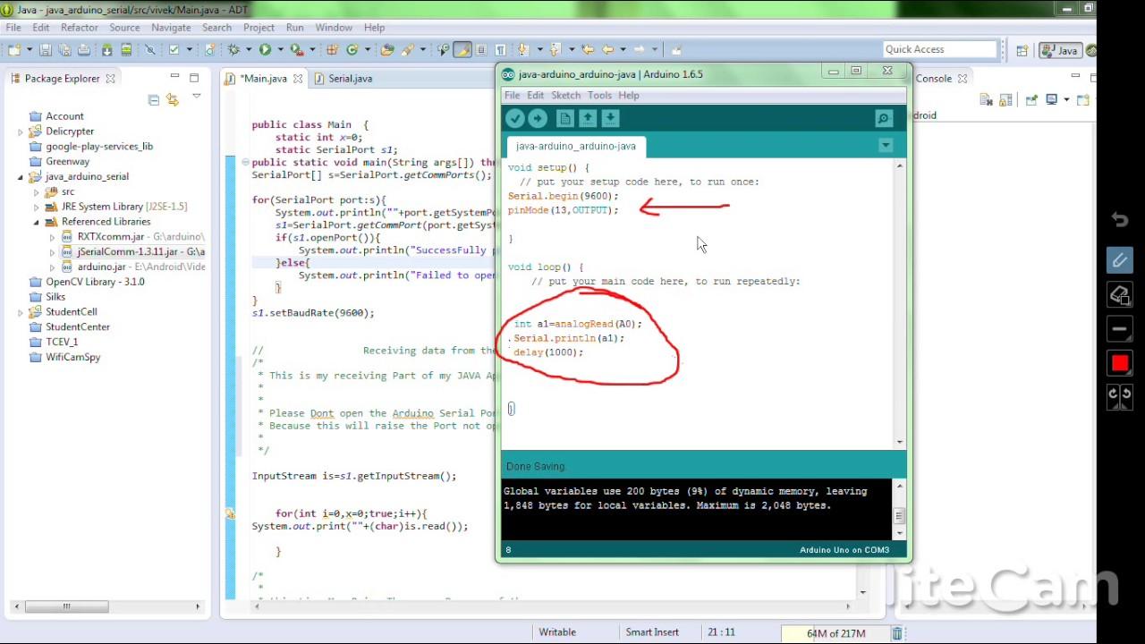 Java Serial Receive