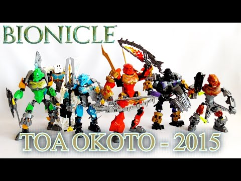 Обзор на BIONICLE - Тоа Окото/Toa Okoto/Toa 2015 (70784-70789)