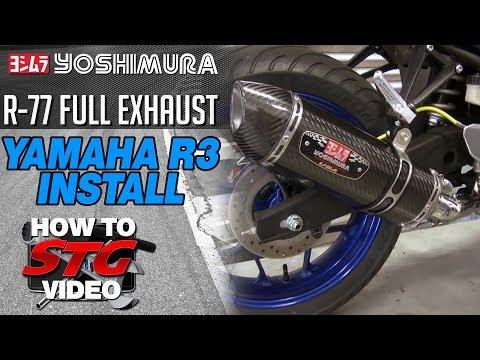 Yoshimura exhaust install on a 2015 Yamaha YZF-R3 from SportbikeTrackGear.com