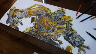 Picture Draw - Bumblebee, Transformers III- Dark of the Moon