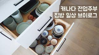 집밥 일상브이로그ㅣ그릇과 주방용품 소개ㅣ애플파이와 파이…