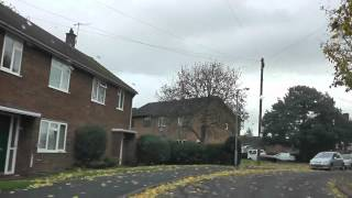 Driving Along Burleigh Road, Gresham Road & Grenville Road, Worcester, UK 2nd November 2013