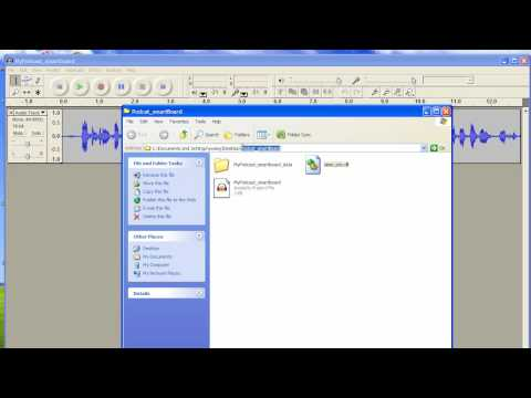 AudacityTutorial: exporting podcast as an MP3 file