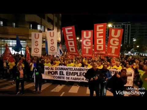 Trabajadores de San Cibrao de Alcoa protestan en Avilés