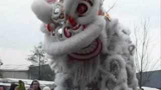 Chinese New Year 2009: Firecrackers, Lion and Unicorn Dance at Wai Yee Hong, Bristol.