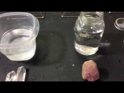 Crystal rose quartz crystal & selenite water test #3