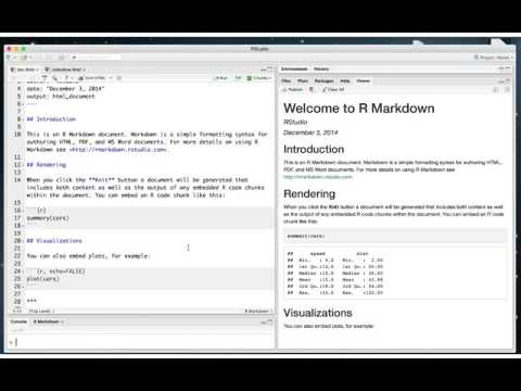 How to Author R Markdown Reports - YouTube