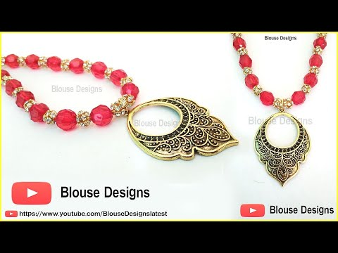 How To Make Beads Necklace, Beaded Necklace, How to make necklace, Necklace