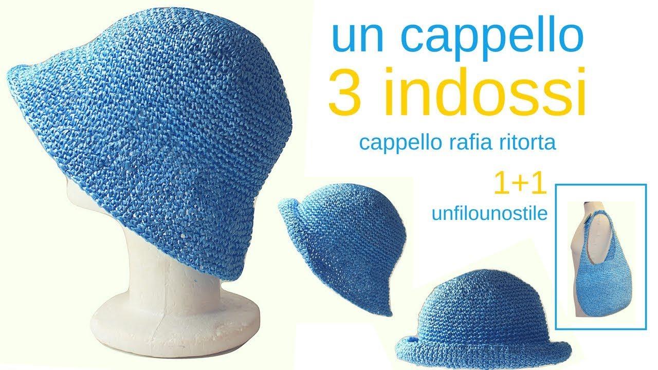 vari colori classcic top design TUTORIAL: Cappello rafia ritorta/crochet hat***lafatatuttofare***