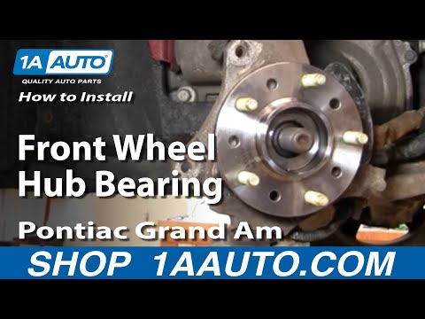 How To Replace Wheel Bearing Hub Assembly 99 05 Pontiac